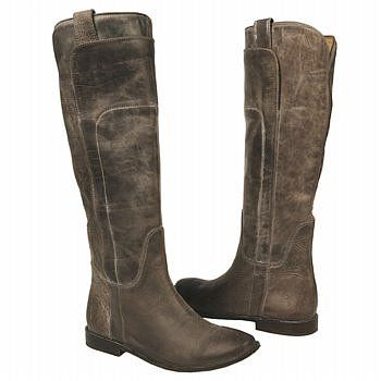 Frye Paige Tall Riding Boots (Grey Leather) - Women's ...