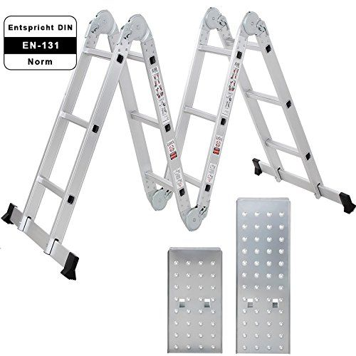 Songmics 3.6m Multi-purpose Ladder with 2 Panels Alu Folding Step Ladders 4 Folds 12 Rungs GLT36M No description (Barcode EAN = 6955880316847). http://www.comparestoreprices.co.uk/december-2016-4/songmics-3-6m-multi-purpose-ladder-with-2-panels-alu-folding-step-ladders-4-folds-12-rungs-glt36m.asp