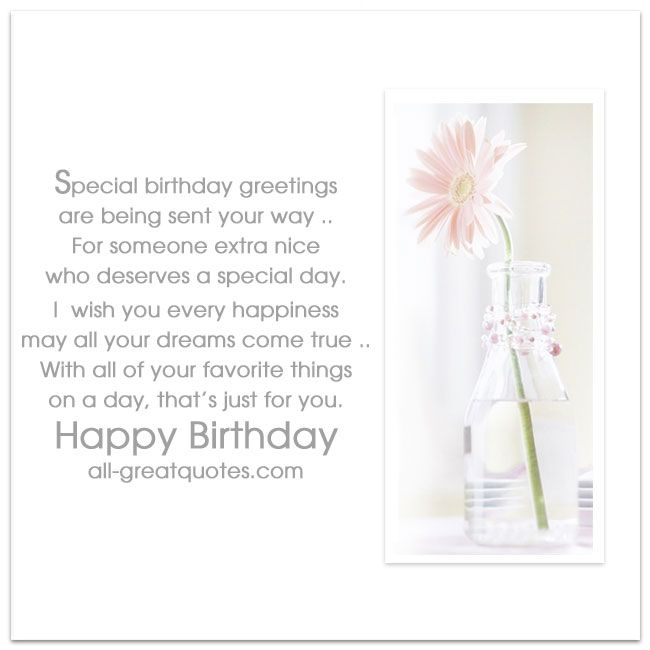 Special Birthday greetings are being sent your way | Free Birthday Cards | all-greatquotes.com