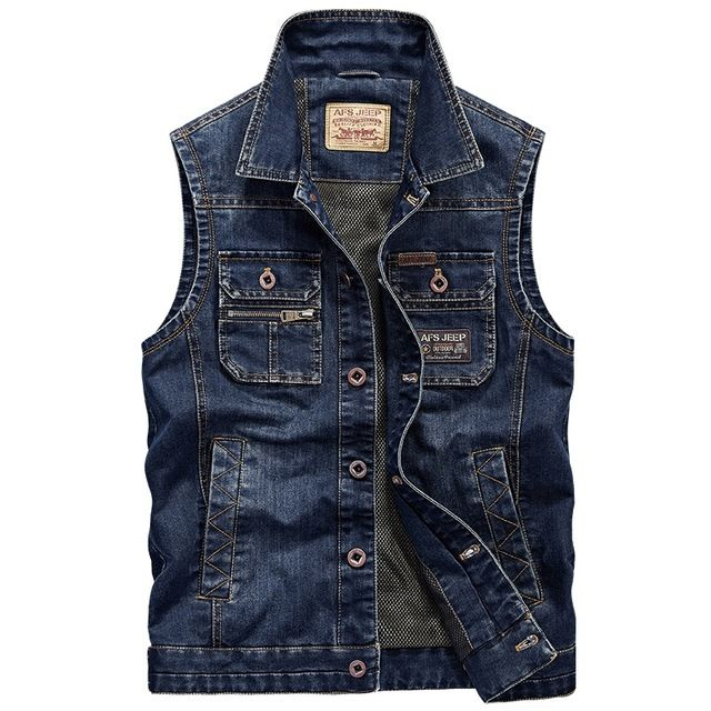 Check it on our site 2016 New Men's Denim Vest Light Waistcoat Men Slim Jeans Jacket Coat Fashion Brand-clothing Rock  Vests chaleco hombre just only $38.85 with free shipping worldwide  #jacketscoatsformen Plese click on picture to see our special price for you