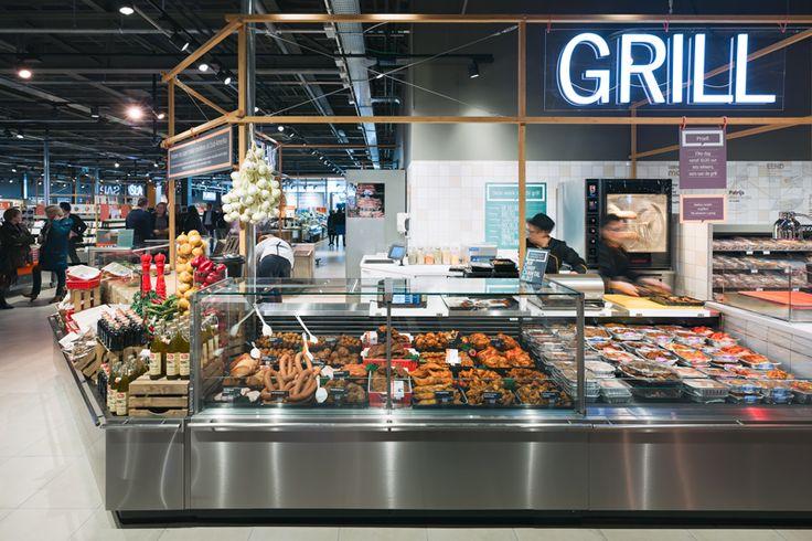 Deli counter at Albert Heijn XL retail concept by BLINK