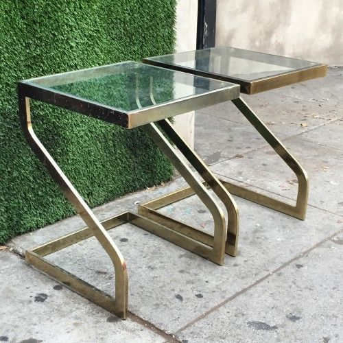 Tini gold end tables