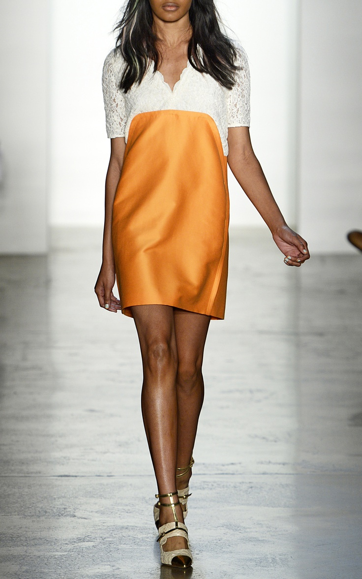 Peter Som Cotton Silk Faille Dress