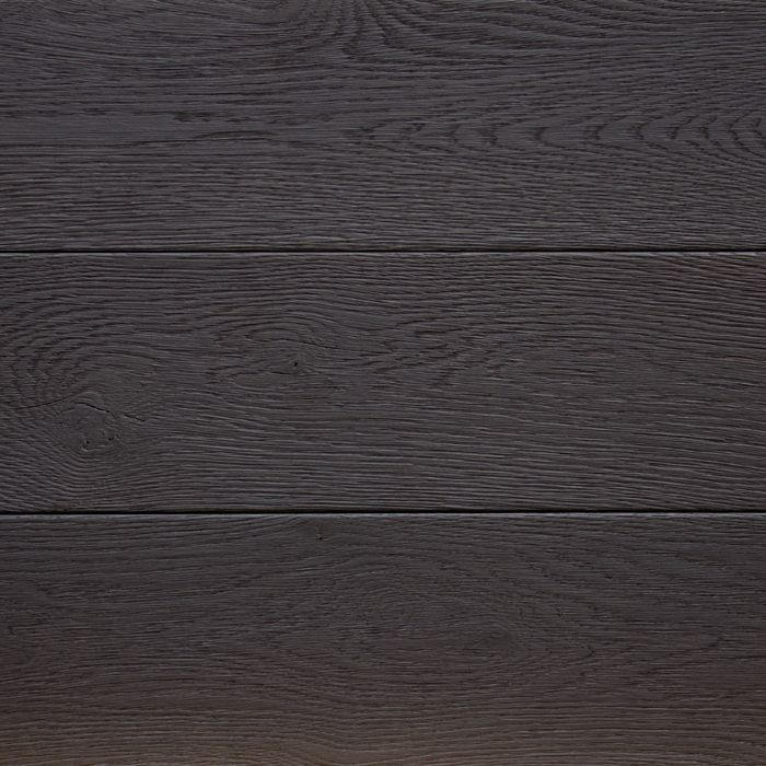 TYCOON from the CHARRED collection by reSAWN TIMBER co. features original cut wide plank white oak burnt in the Japanese style of shou sugi ban and prefinished with a zero-VOC hardwax oil