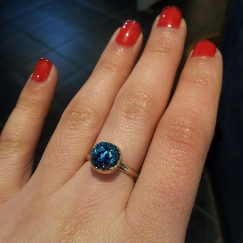 New Aura Quartz Geode rings in, including this beauty! #Huddersfield
