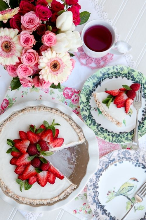 tea time #cheesecake [image from Ladylike Days]