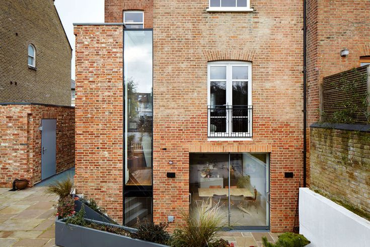 A historic house in London with a new brick exterior