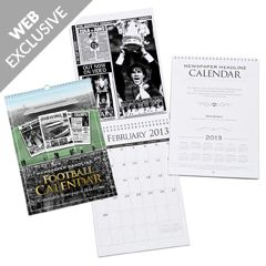 Personalised Football Calendar (Start on month of your choice)