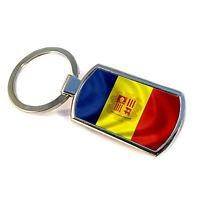 Premium Key Ring with Flag of Andorra