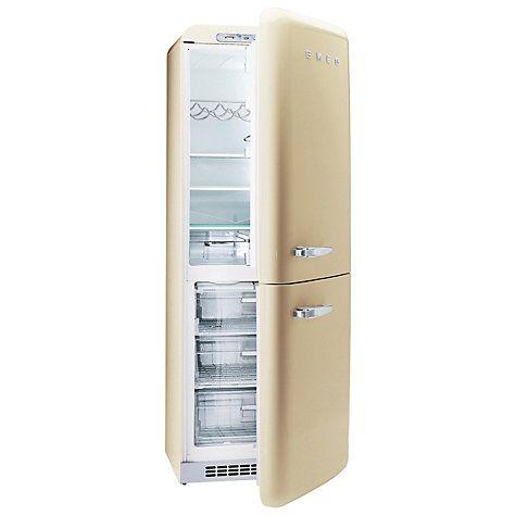 Buy Smeg FAB32QP Fridge Freezer, A+ Energy Rating, 60cm Wide, Cream online at John Lewis