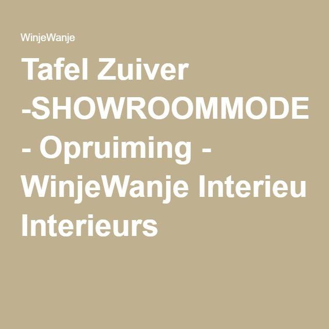 Tafel Zuiver -SHOWROOMMODEL- - Opruiming - WinjeWanje Interieurs