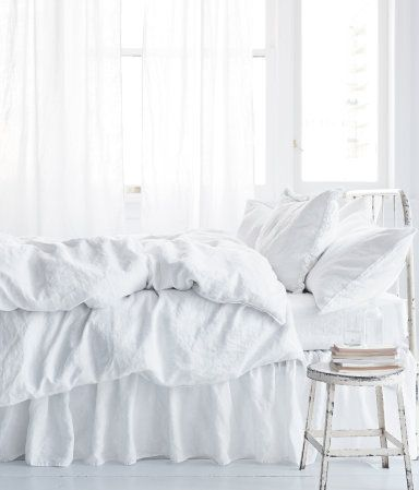 ♕ beautiful white bed linens
