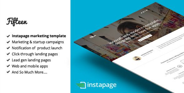 Fifteen - Instapage Marketing Template