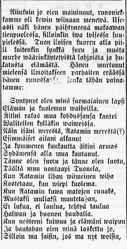 Kalkkimaan pappi II, 11.01.1899 Tornio no 2 - Sanomalehdet - Digitoidut aineistot - Kansalliskirjasto