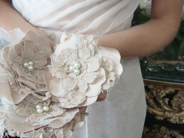 Silk & lace handmade Rosettes On Clips perfect for an updo