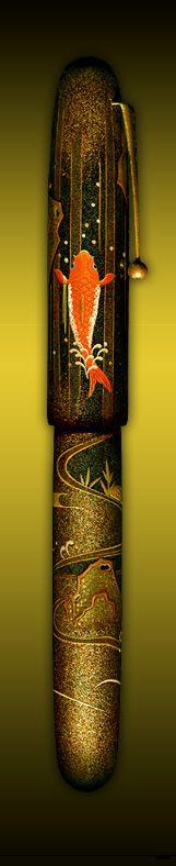 Namiki Pen Carps in Waterfall Emperor Collection Velvet Paris pens shop Namiki specialist Paris France