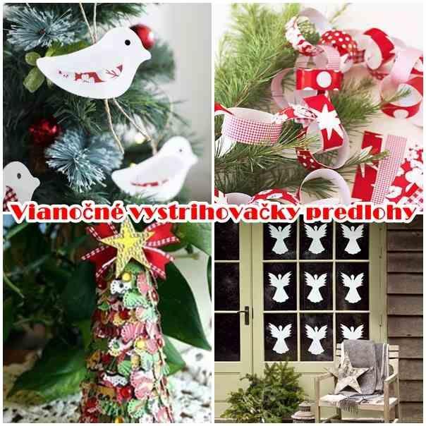 Vianočné vystrihovačky na okná, papierové dekorácie