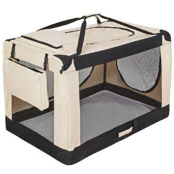 TecTake Cage sac box caisse de transport pour chien chat mobile XXXXL pliable…