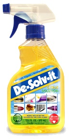De-Solv-it: Safe, Citrus-Based, and General Cleaning Products and Solutions.  This stuff is awesome on greasy stains on clothes!