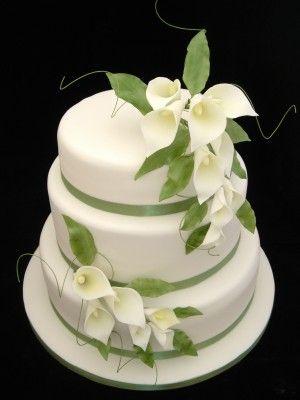 Simple 3 Tier Wedding Cakes | Tier Cala Lily Wedding Cake | Cake Gallery | Cake Crafts