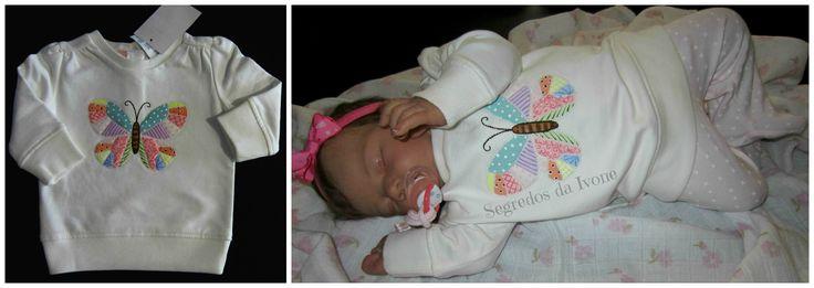 BE114 - Pintura em camisolinha de bebé