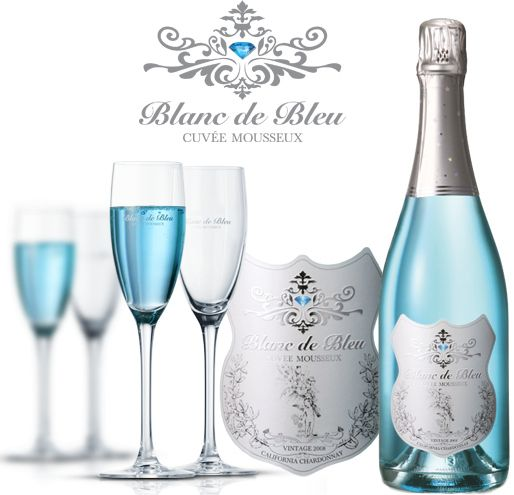 I would so drink this on my wedding day!!! Blanc de Bleu Champagne | 37 Ways To Treat Yourself With Tiffany Blue