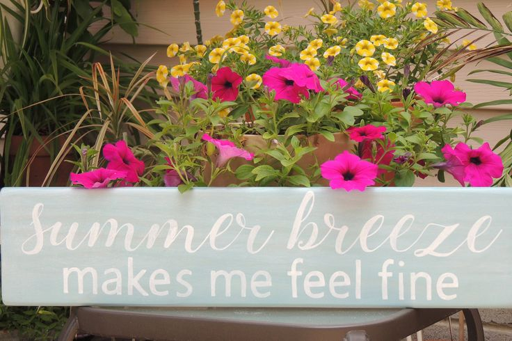 SUMMER BREEZE makes me feel fine sign-Hand painted inspirational wood sign-Beach sign-Housewarming Gift-Wedding Gift-Aqua sign-Song Lyric by SunnyDaySigns on Etsy