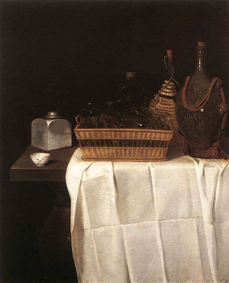 Still-Life with Glasses and Bottles 1641-44 Oil on canvas, 122 x 99 cm Staatliche Museen, Berlin