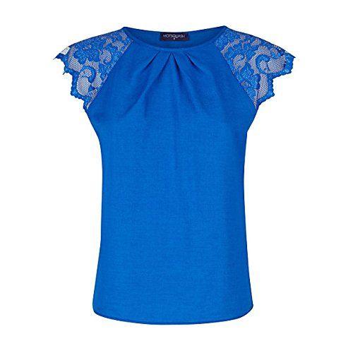 (ホットスカッシュ) HotSquash レディース カジュアルシャツ Crepe top with lace sleeves Blue 12    レディーストップス参考サイズ UK|バスト(cm)|ウエスト(cm)|ヒップ(cm) 6(XS)|30(77)|24(61)|34(87) 8(XS)|32(82)|26(67)|35...