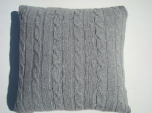 Light Grey Wool Cushion