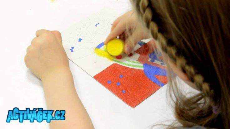Malování barevným pískem, pískování