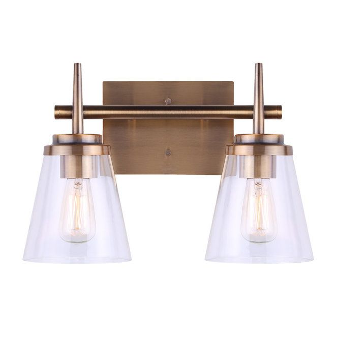 Tapered Spike Vanity Light 2 Light Vanity Lighting Vanity Light Bar Lighting Ceiling Fans