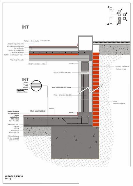 Aprender Autocad / Revit / Photoshop / Excel Gratis!: Detalles Constructivos Submuracion con supresion Construcciones Castellano 1