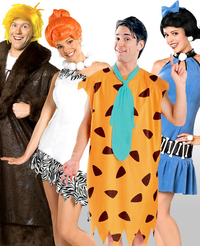 It's the great group costume idea in history - The Flintstones! Dress up as Fred, Wilma, Barney and Betty in our official Flintstones costumes.
