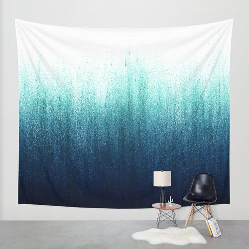 Teal Ombre Wall Tapestry by Caitlin Workman | Society6