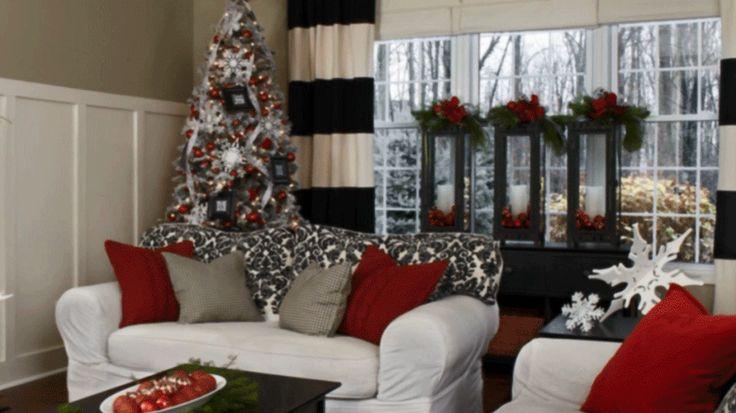 Pretty christmas living rooms decorating ideas Christmas decoration in living room