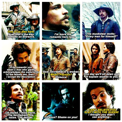 The Musketeers - Aramis Quotes