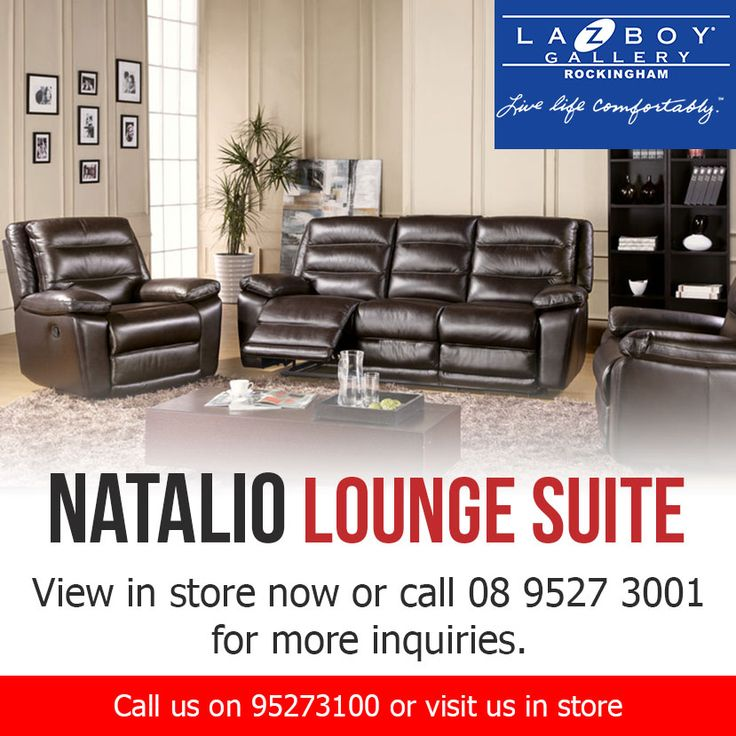 View the Natalio Lounge Suite in store now or call (08) 9527 3001 for more inquiries.   http://geckoblueinteriors.com.au/ http://lazboyperth.com.au/