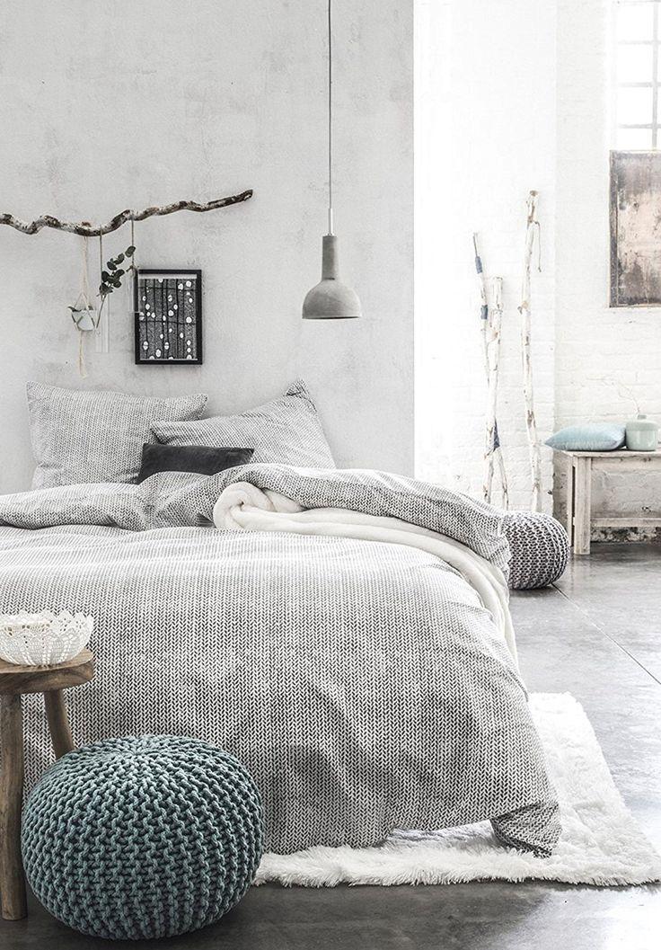 Today 232262 Waby Sabi Ropy Parure de lit avec Housse de couette/2 Taies d'oreiller Coton Gris 220 x 240 cm: Amazon.fr: Cuisine & Maison