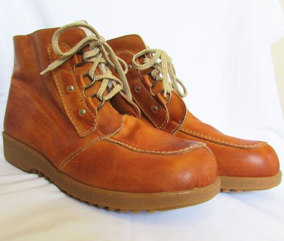 Vintage Insulated Boots Work Boots 70s NOS 11 by GoodNPlentyVinty