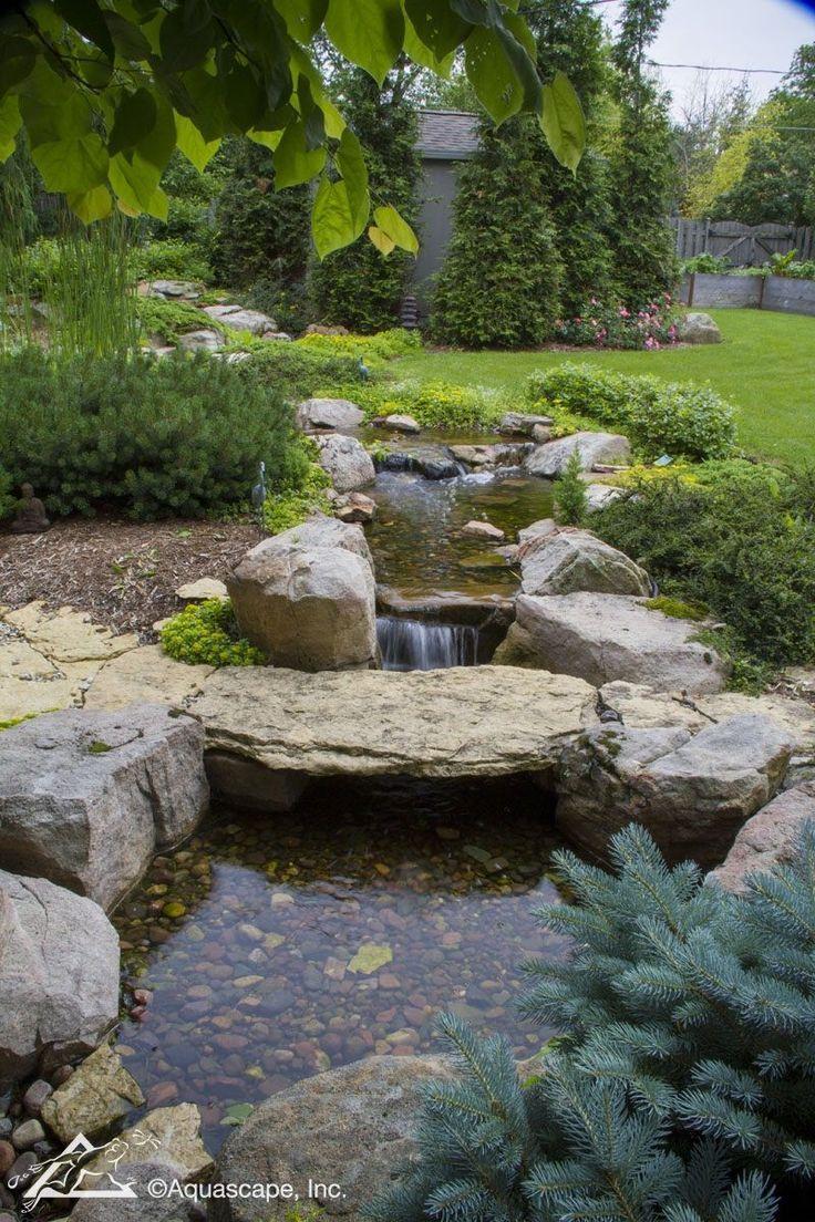 Waterfall Stream In A Residential Backyard Aquascape Inc