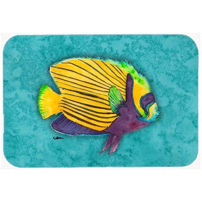 Caroline's Treasures Fish Tropical Kitchen/Bath Mat Size: 2