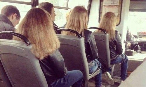 """Seleção de imagens de """"almas gêmeas"""" encontradas no transporte público (Foto: Reprodução/Daily Mail)"""