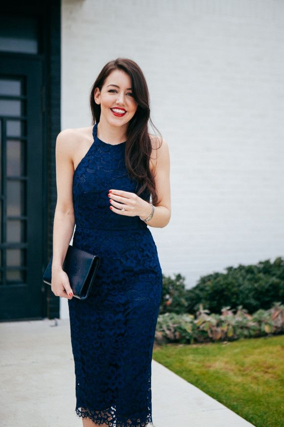 Navy Lace Dress // Dallas Wardrobe