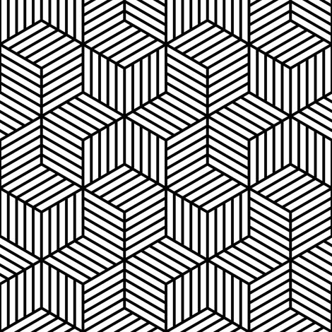 stripy chevron cubes? fabric by sef on Spoonflower - custom fabric