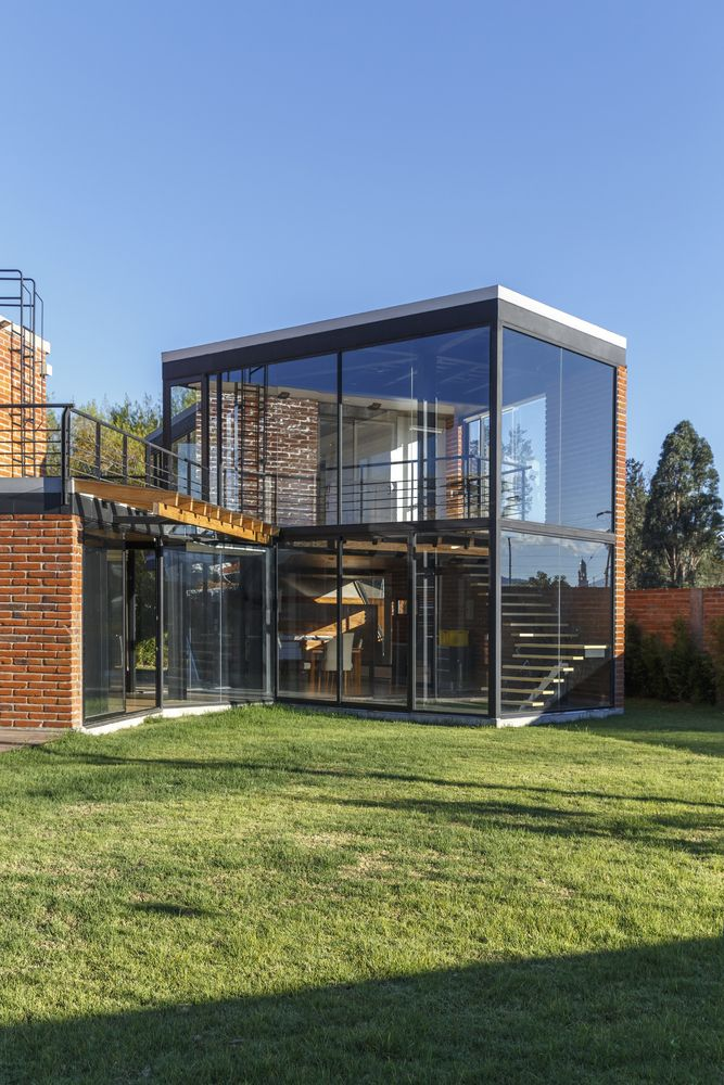 Galeria De Casa Ortega Estudio A0 6 Industrial House Exterior Architecture House Steel Frame House