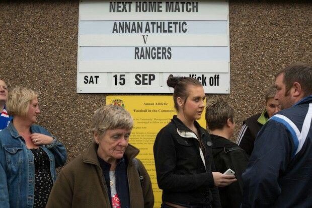 Annan Athletic v Rangers, at Galabank Stadium, Annan. September 2012. © Jeremy Sutton-Hibbert