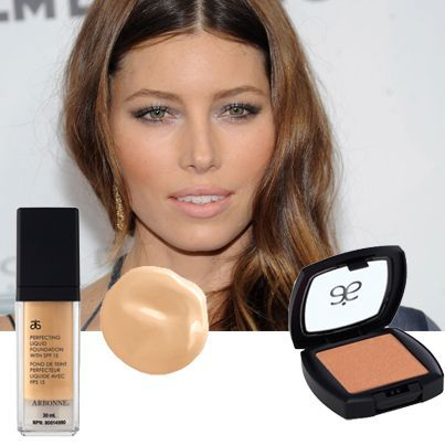 Jessica Biel loves Arbonne's Apricot blush and Perfecting liquid foundation #veganbeauty #detox