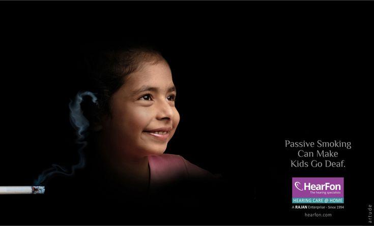 Awareness ad based on passive smoking.