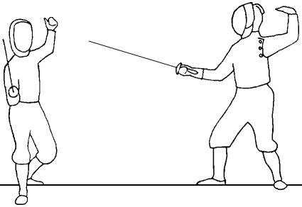 The Eight Foil Parries Forming the Eight Fencing Positions